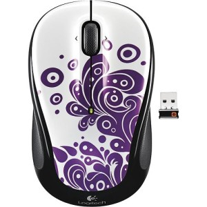 Logitech wireless mouse purple