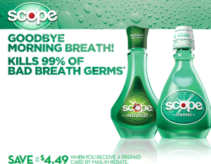 Scope Rebate 300x233 FREE Scope Mouthwash With Mail in Rebate!