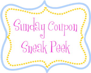 Sunday Coupon Sneak Peek