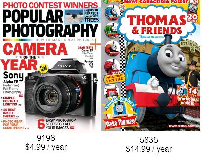 magazine deals jan 15 2014