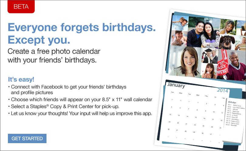 staples calendar