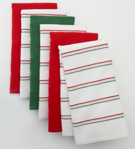 The Big One® 6-pk. Christmas Kitchen Towels $4.25 (Retail $24.99)