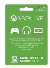 12 Month Xbox Live Gold Card $39.99 Shipped (Retail $60)