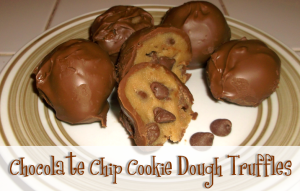 Easy Chocolate Chip Cookie Dough Truffles!