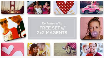 Free Shutterfly Magnets Set of 4 Custom 2x2 Photo Magnets Just $4 Shipped!