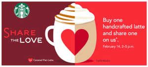 Don't Forget Your BOGO Free Lattes at Starbucks Today!
