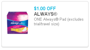 always q 300x166 Stayfree Pads Just $1.50 at Family Dollar