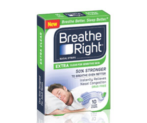 FREEbie Alert:  2 Free Samples of Breathe Right Extra Clear Sample