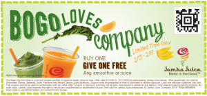 BOGO Free Jamba Juice Coupon!