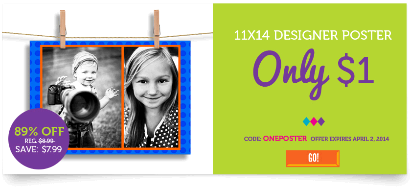 11X14 Custom Photo Poster Just $1! (New York Photo Customers)