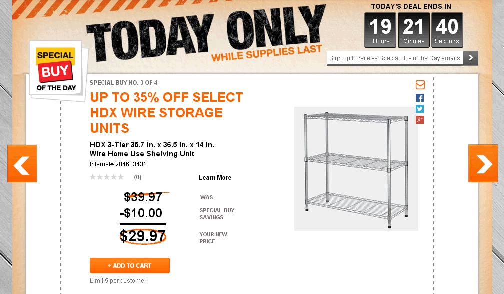 HD Storage special buy