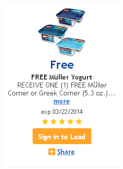 Kroger Friday Freebie: Muller Yogurt!
