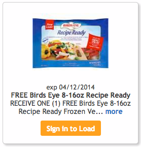 Kroger freebie birds eye