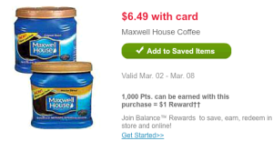 MaxHouseWG 300x155 Maxwell House Coffee Just $4.49 After Coupon and Points!