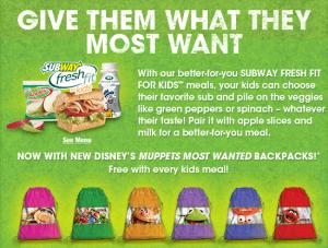 Subway muppets bag