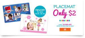 Personalized Photo Placemat Just $2 + Shipping!