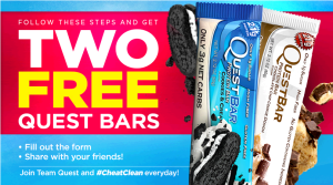 quest 300x167 Two FREE Quest Nutrition Bars!