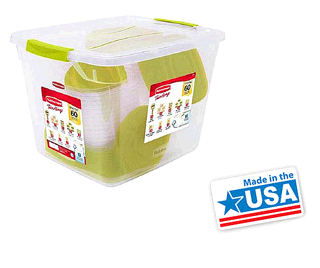 rubbermaid totes wm Rubbermaid 60 Piece Plastic TakeAlongs Set Just $19.88!! (Orig $65!)
