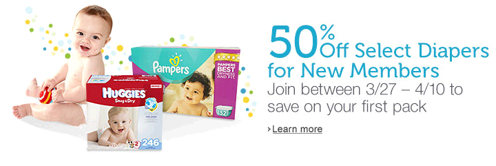 50 off diapers