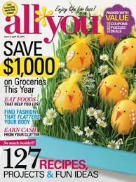 All You April 14 ALL You April Issue Coupons and Spring Subscription Sale