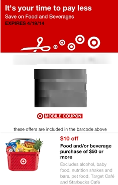 *HOT* $10 off $50 Grocery Purchase at Target!