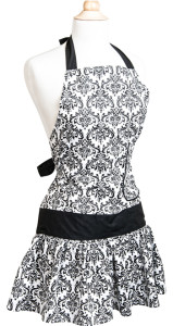 Womens-Flirty-Apron-Classic-Black-Damask-Front