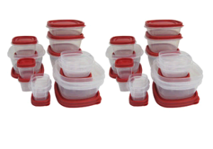 food storage 300x211 56 Piece Food Storage Container Set   $20 With FREE Store Pickup!