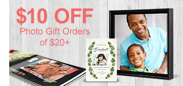 $10 Off Photo Gift Orders of $20+!
