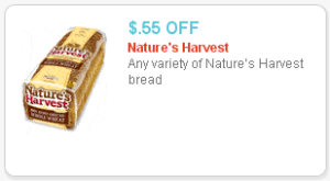 Nature's Harvest Bread Coupon – $1.73 at Walmart!