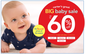60 Off Baby at Carters 300x191 Up to 60% Off Baby Apparel and FREE Shipping at Carters!