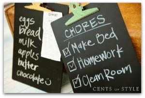 Chalkboard Clipboard CoS