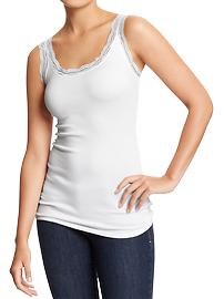 Old Navy White Lace Tank