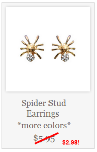 Spider Earrings Half Off