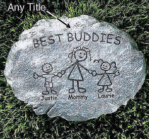 family stones Personalized Family Stepping Stones   $19.97