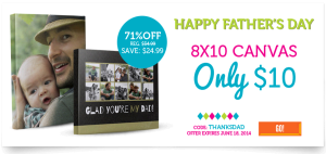 8×10 Photo Canvas Just $10 From York Photo! (New Customers)