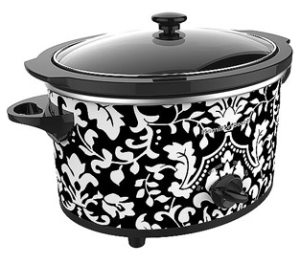 Black and White Flower Patterned Hamilton Beach Slow Cooker – $12.88!