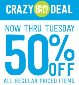Crazy 8 Half off Sale