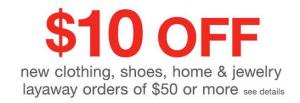 $10 Off New Kmart Layaway Order!
