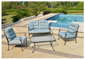 Mainstays Willow Springs 4-Piece Patio Conversation Set