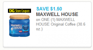 $5 Maxwell House Coffee at Dollar General!
