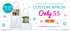 Custom Photo Apron Just $5 + Shipping!