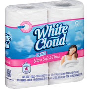 White Clound Ultra Soft and Thick White Cloud Bath Tissue Just $.25 Per Double Roll!