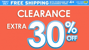 30 Off Clearance Justice