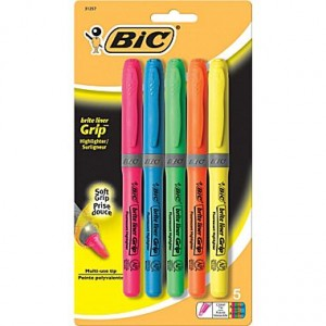 *HOT* 5-pack of BIC Highlighters Just $1 + FREE Pickup!
