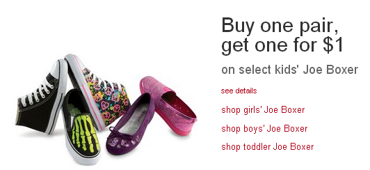Buy One Pair of Kids' Shoes, Get One Pair for $1at Kmart!