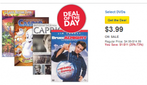 Best Buy Deal of the Bay DVDs