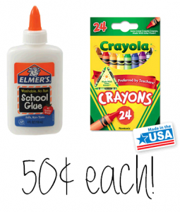 Elmers and Crayola 50 Cents