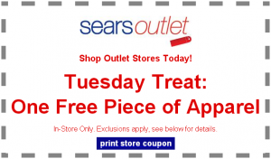FREE Clothing Sears Outlet 300x176 One FREE Piece of Clothing in Sears Outlet Stores Today ONLY!