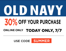 Old Navy July 7 30 Off