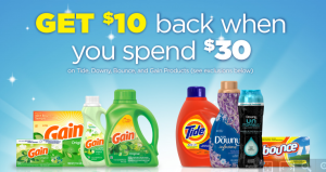 Get a $10 Gift Card When You Spend $30 on P&G Laundry Supplies!